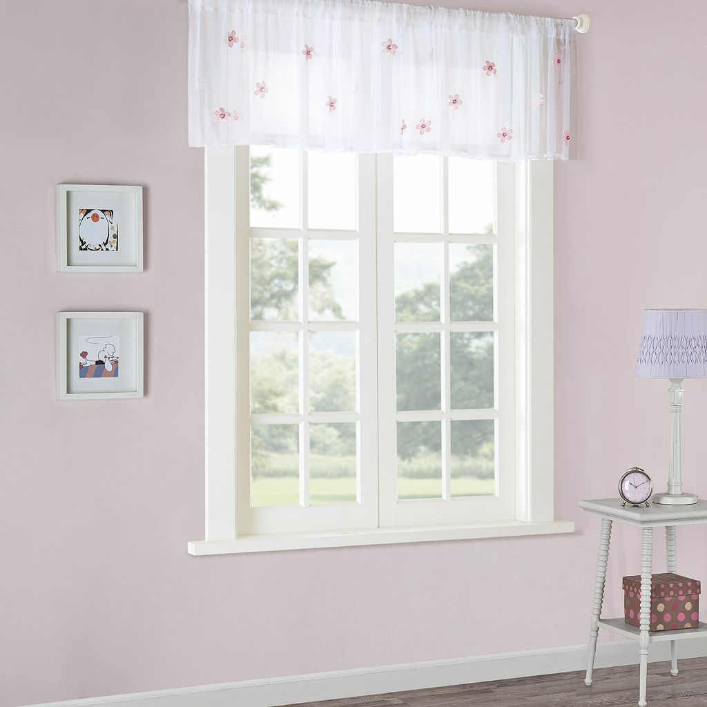 Mi Zone Lily Sheer Window Valance - 52'' x 18''