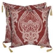 Bombay® Outdoors Delhi Paisley Tassels Reversible Throw Pillow 2-piece Set