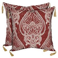 Bombay® Outdoors Delhi Paisley Tassels Reversible Throw Pillow 2 pc Set