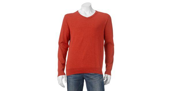 Men S Sonoma Goods For Life Solid V Neck Sweater