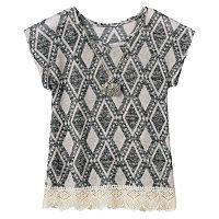 Girls 7-16 Insta Girl Diamond Sweater-Knit Tee