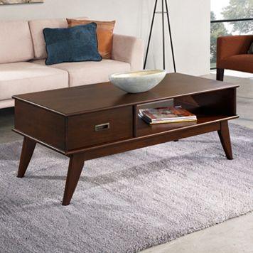 Simpli Home Draper Mid-Century Coffee Table