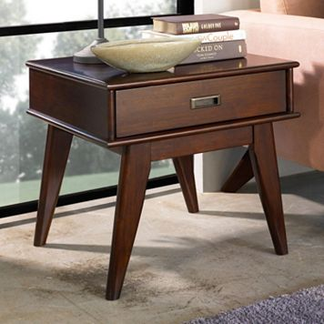 Simpli Home Draper Mid-Century End Table