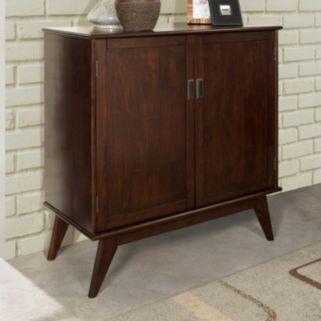 Simpli Home Draper Mid-Century Medium Storage Cabinet