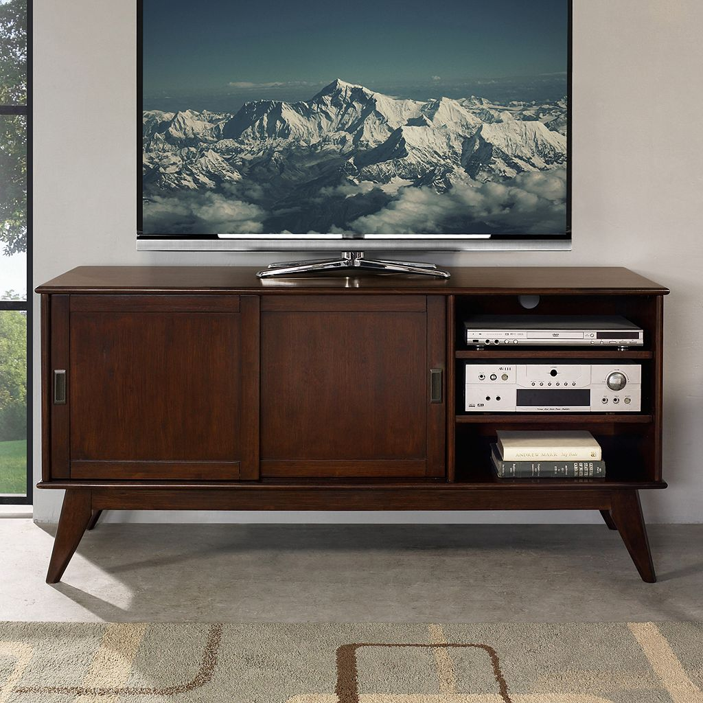 Simpli Home Draper Mid-Century Medium TV Stand