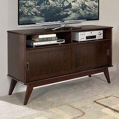 Simpli Home Draper Mid-Century Tall TV Stand