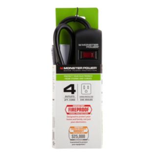 Monster Essentials 4-Outlet Surge Protector