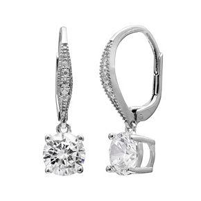 Primrose Sterling Silver Cubic Zirconia Drop Earrings