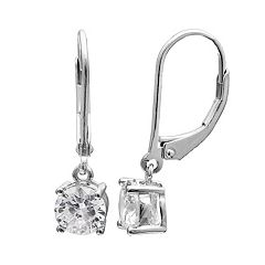 PRIMROSE Sterling Silver Cubic Zirconia Drop Earrings