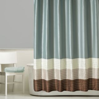 Home Classics® Shalimar Colorblock Shower Curtain