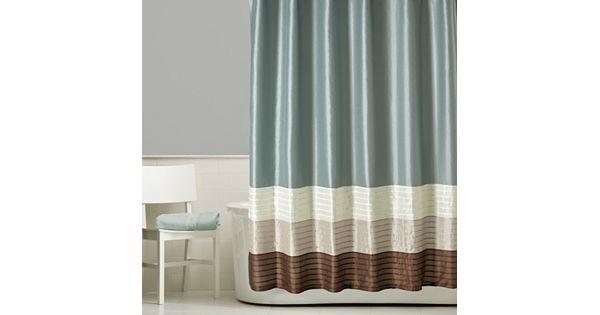 Home Classics 174 Shalimar Colorblock Shower Curtain