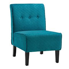 Coco Teal Blue Accent Chair