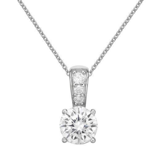 PRIMROSE Sterling Silver Cubic Zirconia Pendant Necklace