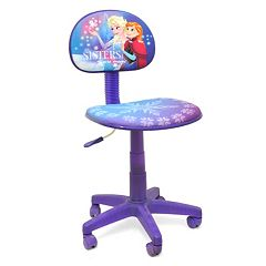 Disneys Frozen Elsa Anna Rolling Task Desk Chair