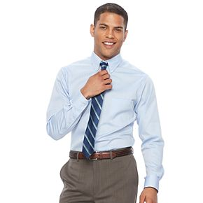 Men's Chaps Regular Fit Non Iron Stretch Button-down Collar Dress Shirt