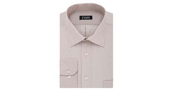 Men 39 s chaps regular fit no iron stretch spread collar for Chaps mens dress shirts