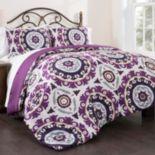 Republic Suzani Royal Lilac 3-piece King Duvet Cover Set