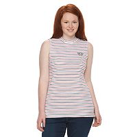 Juniors' Plus Size Her Universe Captain America Striped Mockneck Tank Top by Marvel