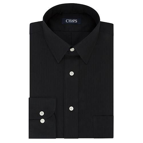 Men's Chaps Essentials Regular-Fit Wrinkle-Free Herringbone Dress Shirt