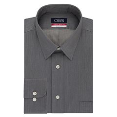 Men's Chaps Essentials Regular-Fit Wrinkle-Free Herringbone Dress Shirt