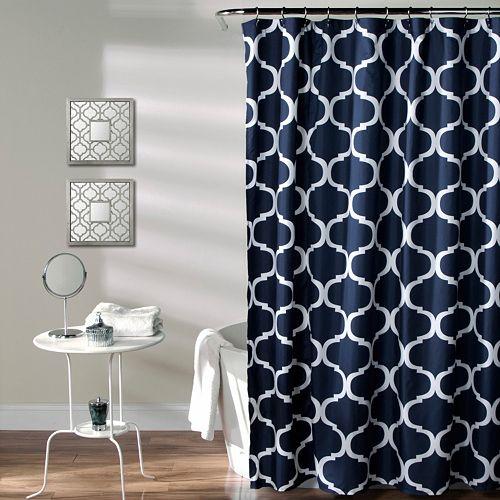 Lush Decor Geo Shower Curtain