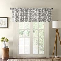Madison Park Ella Printed Diamond Valance - 50'' x 18''