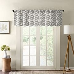 Madison Park Ella Printed Diamond Window Valance - 50'' x 18''