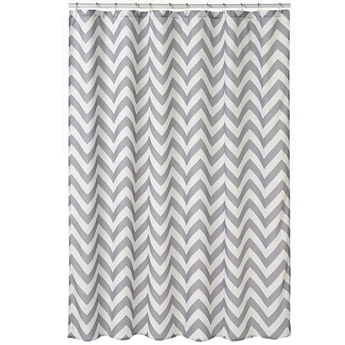 Home Classics® Chevron Fabric Shower Curtain