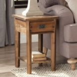 Alaterre Revive Reclaimed Wood Chairside Table