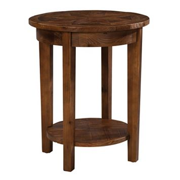 Alaterre Revive Reclaimed Wood Round End Table