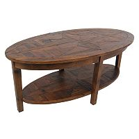 Alaterre Revive Reclaimed Wood Oval Coffee Table