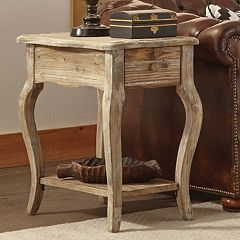 Alaterre Rustic Reclaimed Wood Chairside Table