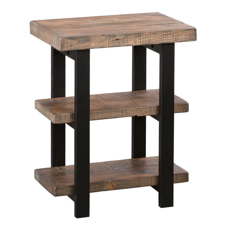 Alaterre Pomona Rustic 2-Shelf End Table, Natural