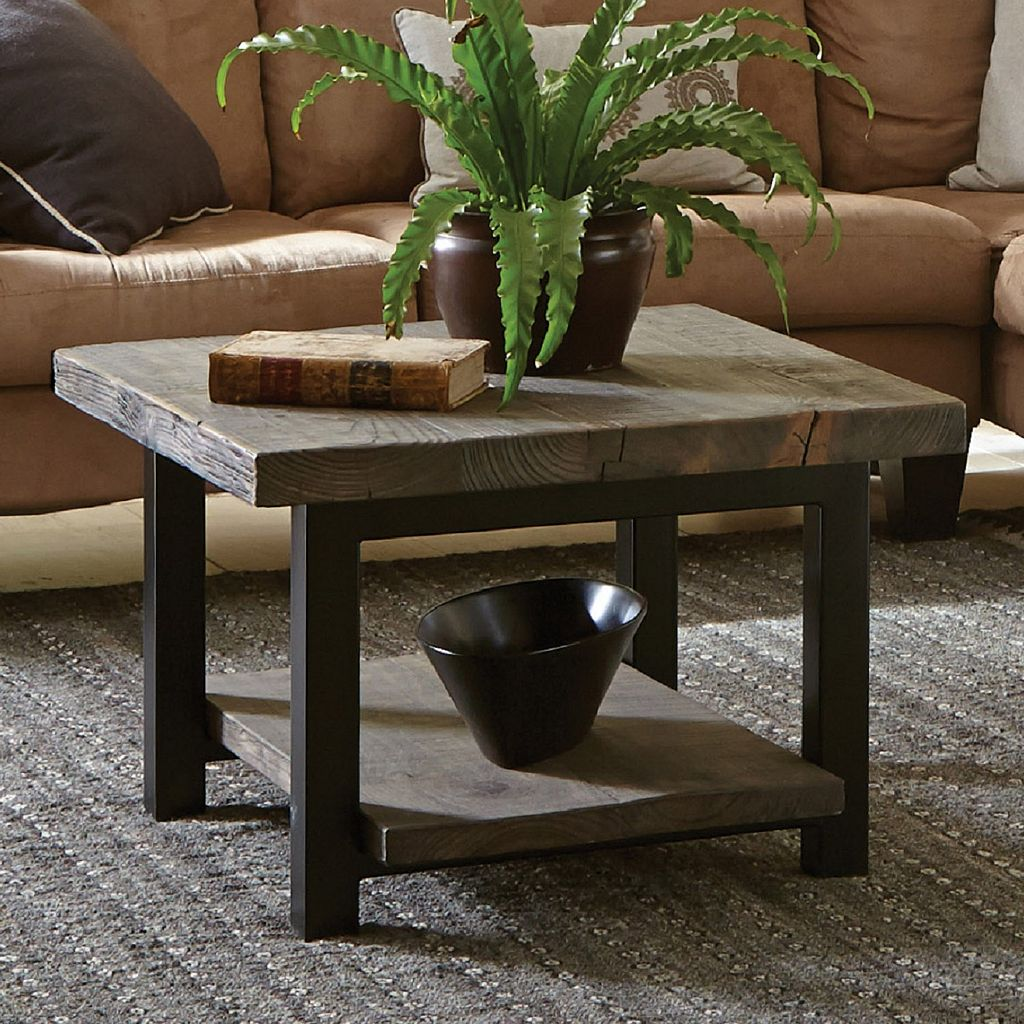 Alaterre Pomona Rustic Cube Coffee Table