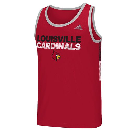 Men's adidas Louisville Cardinals Campus Performance Tank Top