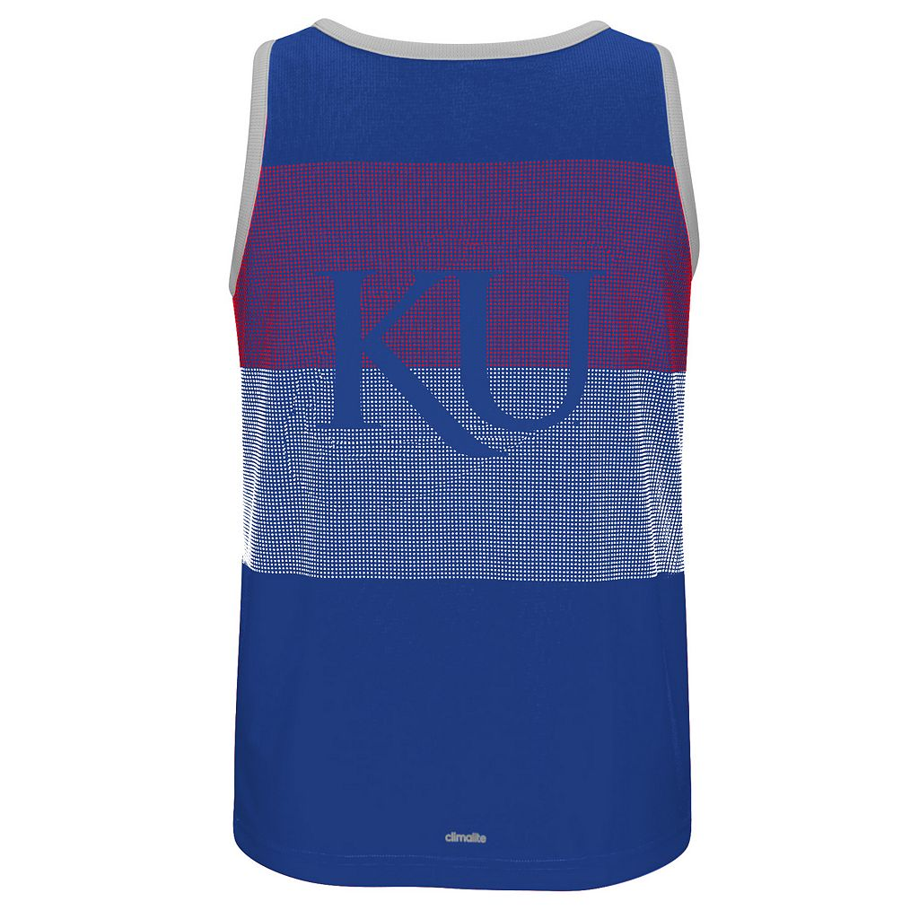 Men's adidas Kansas Jayhawks Campus Performance Tank Top