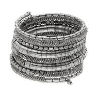 Beaded Mesh Coil Bracelet
