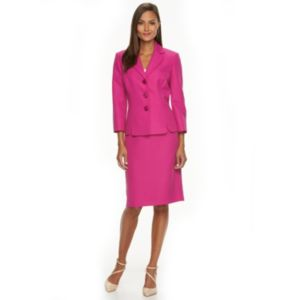 Women's Le Suit Pique Suit Jacket & Skirt Set