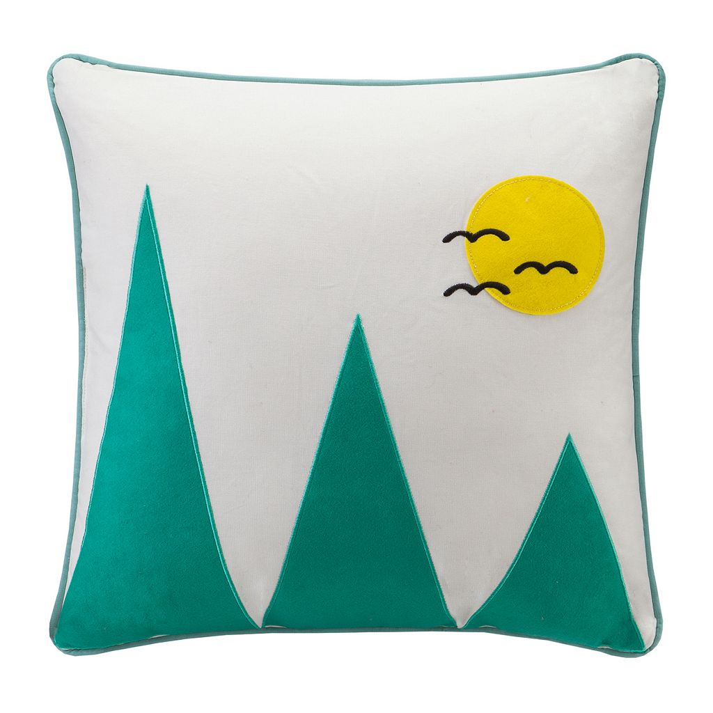 HipStyle Wanderlust Mountain Throw Pillow