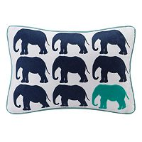 HipStyle Lucky One Elephant Oblong Throw Pillow