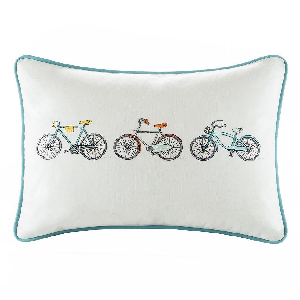 HipStyle Cruz Bicycle Oblong Throw Pillow