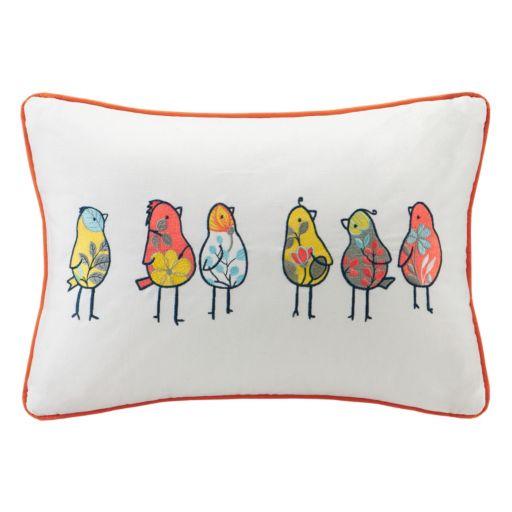 HipStyle Chickas Birds Oblong Throw Pillow
