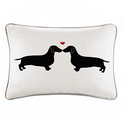 HipStyle L'amour Kissing Dog Oblong Throw Pillow
