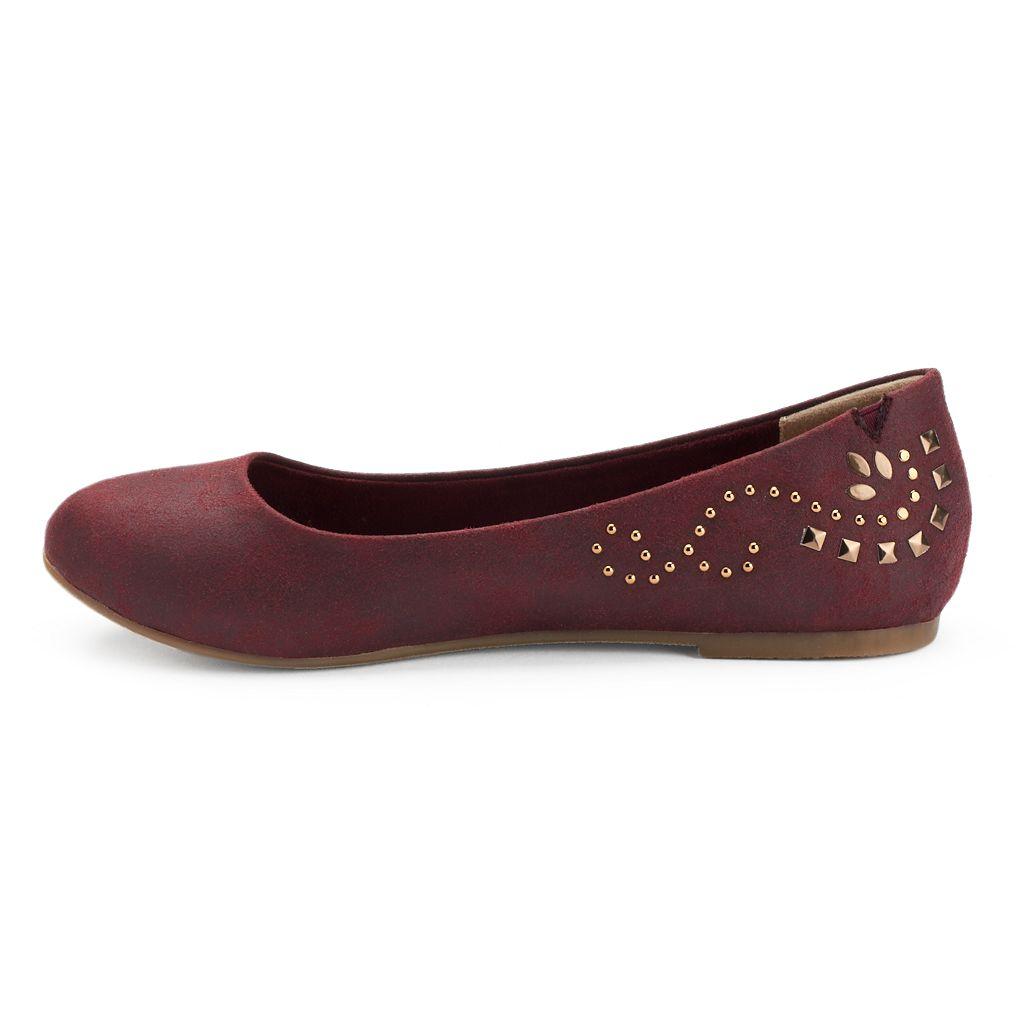 Mudd® Women's Studded Ballet Flats