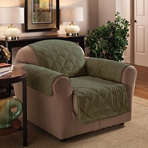 Jeffrey Home Suede Chair Protector