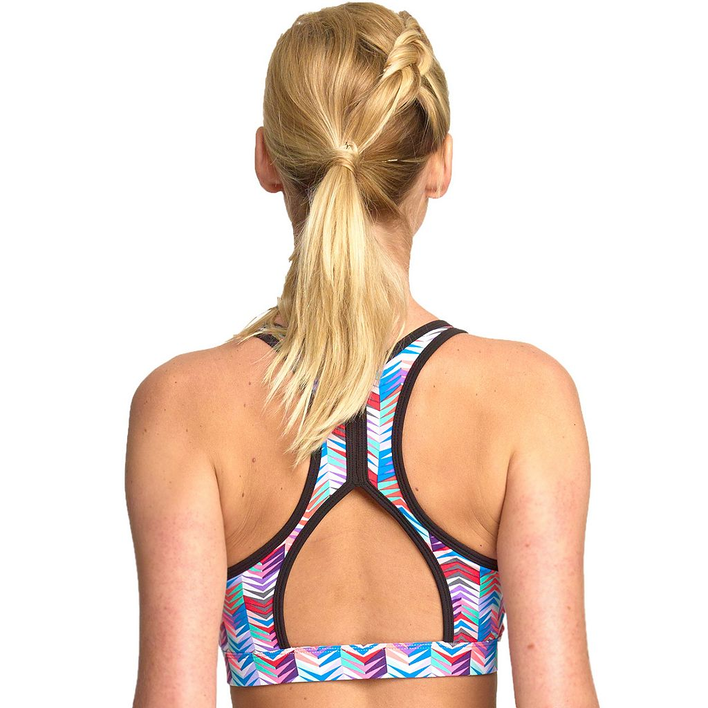 Colosseum Bra: Zipline Front-Close High-Impact Sports Bra BCTB30506