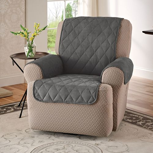 Jeffrey Home Suede Recliner Wing Chair Protector 82e7ffb3c