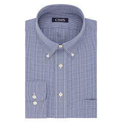 Men's Chaps Regular-Fit Plaid Wrinkle-Free Stretch Collar Dress Shirt