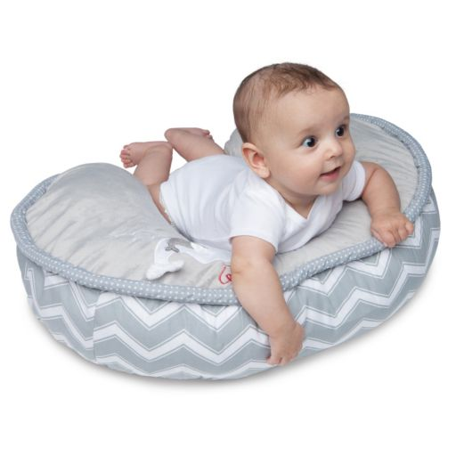Boppy Two-Sided Luxe Minky Plush & Applique Nursing Pillow & Positioner