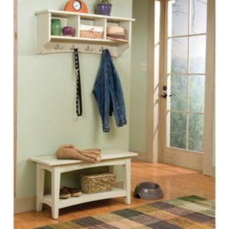 Alaterre Shaker Cottage Neutral Bench & Coat Hook Set